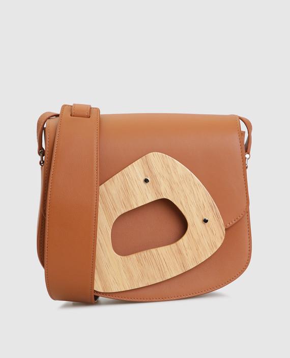 Коричневая кожаная сумка L'amorphe