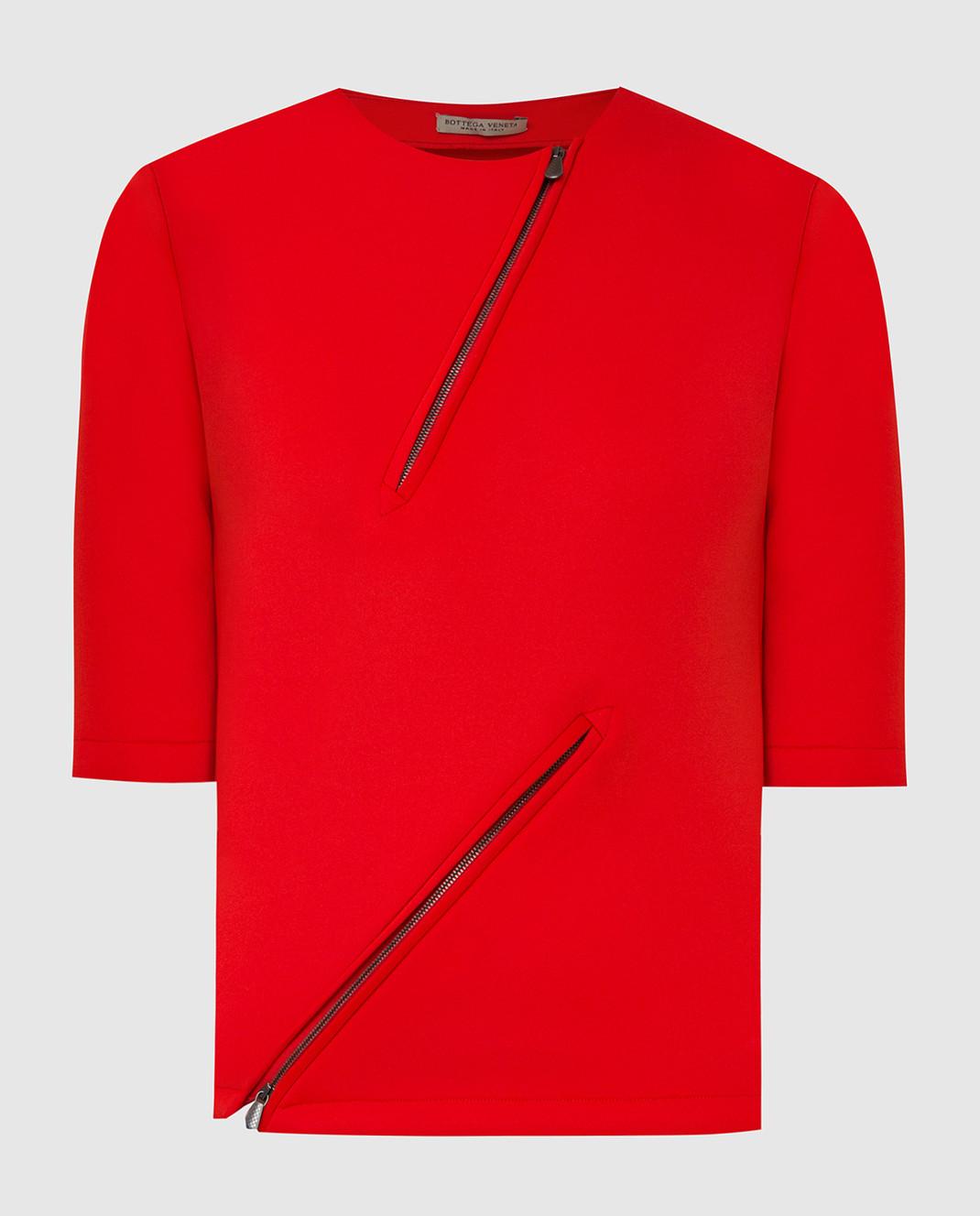 Bottega Veneta Красная футболка 405392