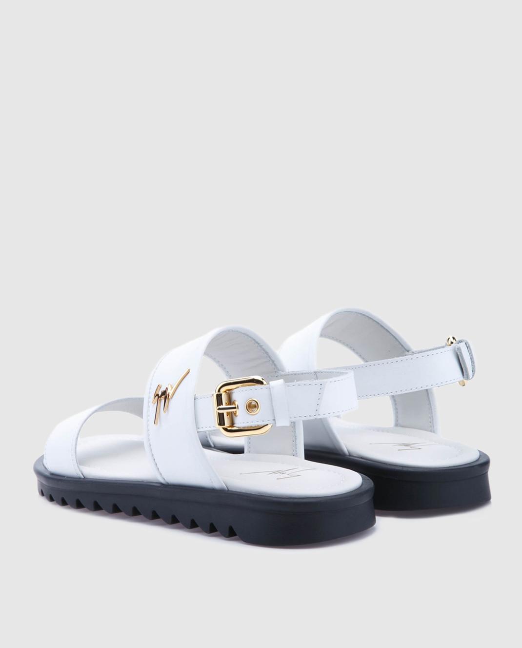 Giuseppe Zanotti Белые кожаные сандалии  SBE8409002 изображение 3