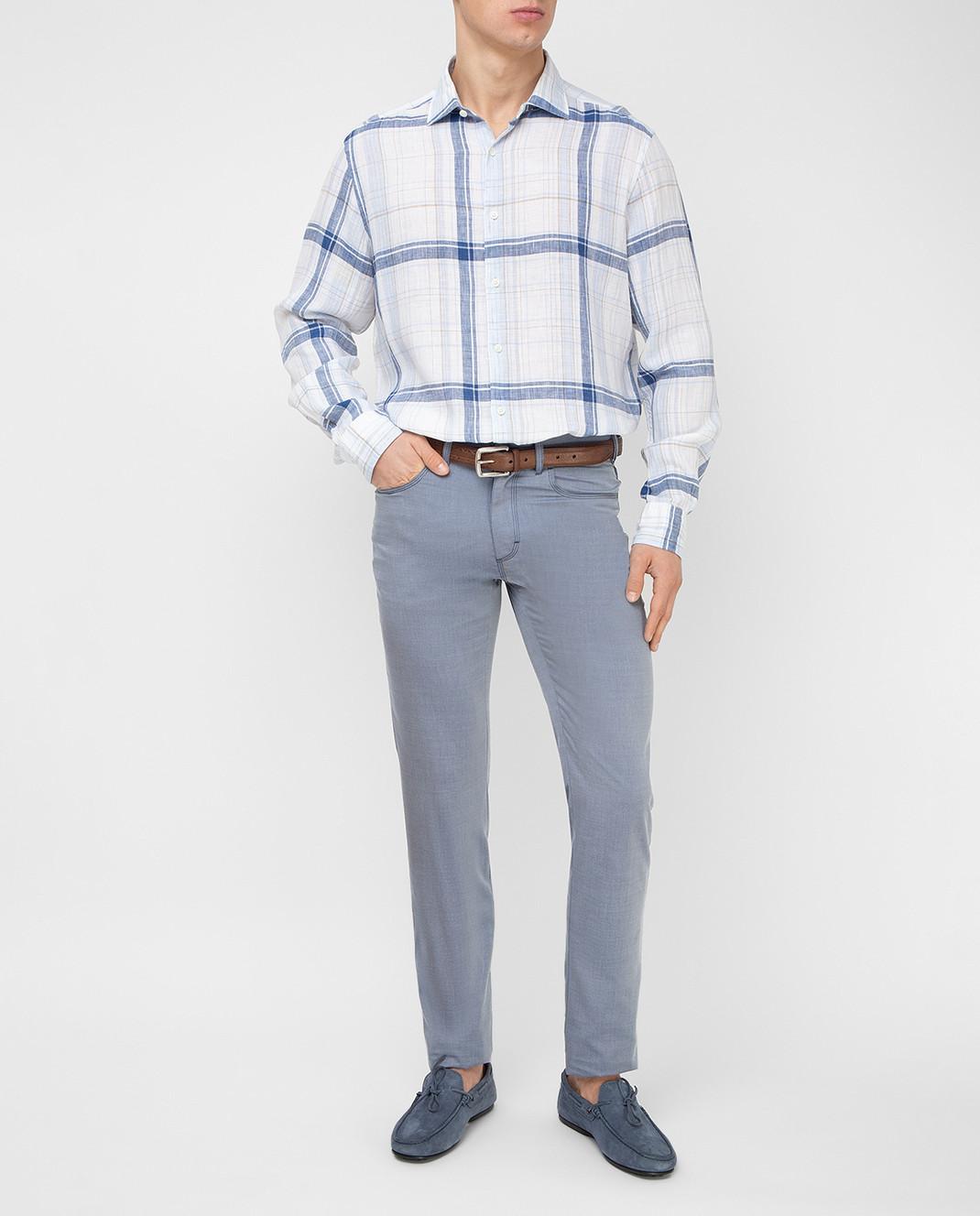 Stefano Ricci Голубые брюки MBT8100020 изображение 2