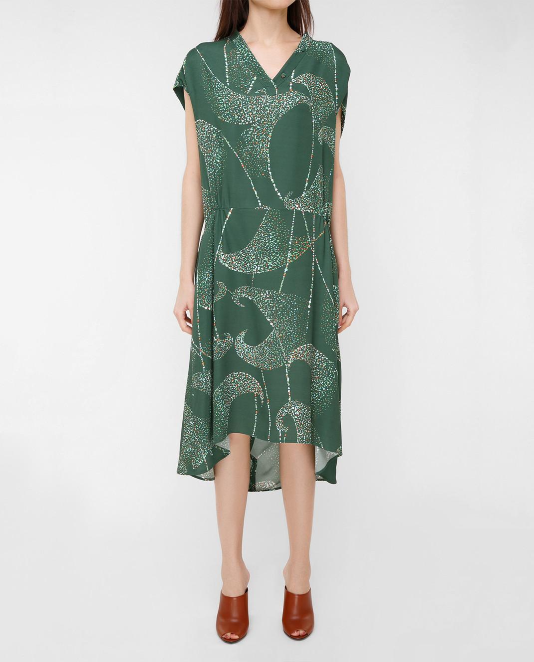 Balenciaga Зеленое платье 456946 изображение 3