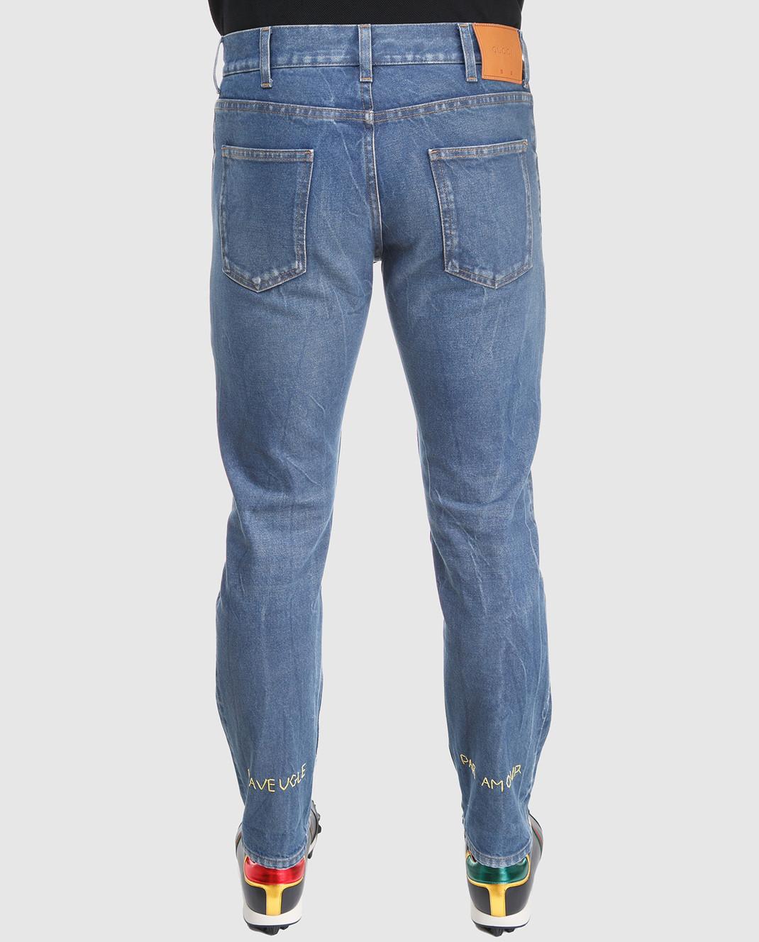 Gucci Синие джинсы 475273 изображение 4