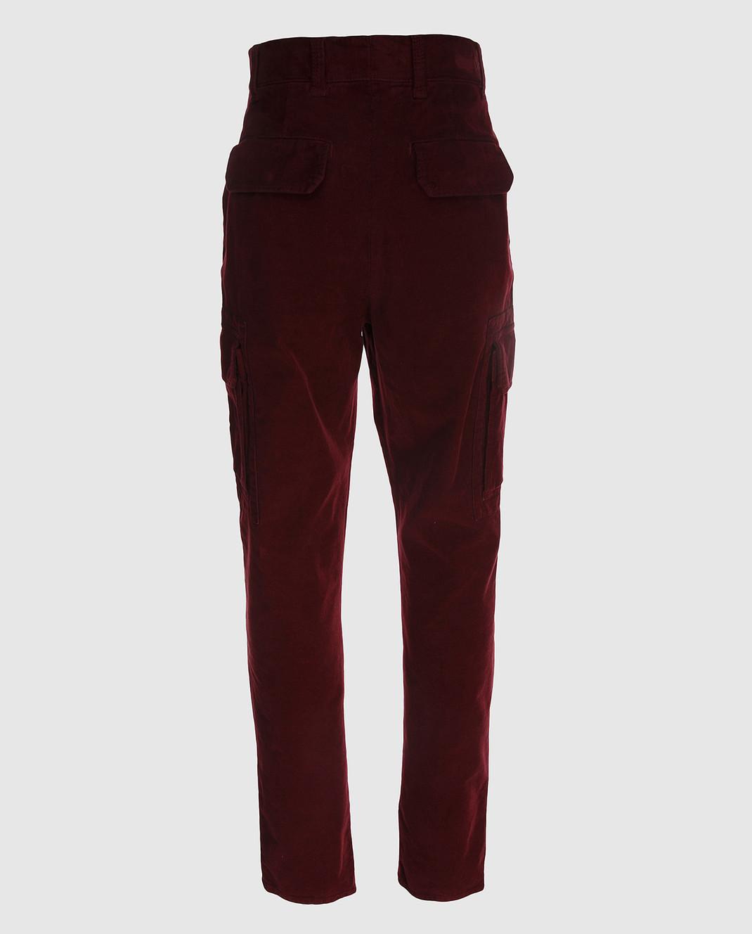 Brunello Cucinelli Бордовые брюки M298DS2120 изображение 2