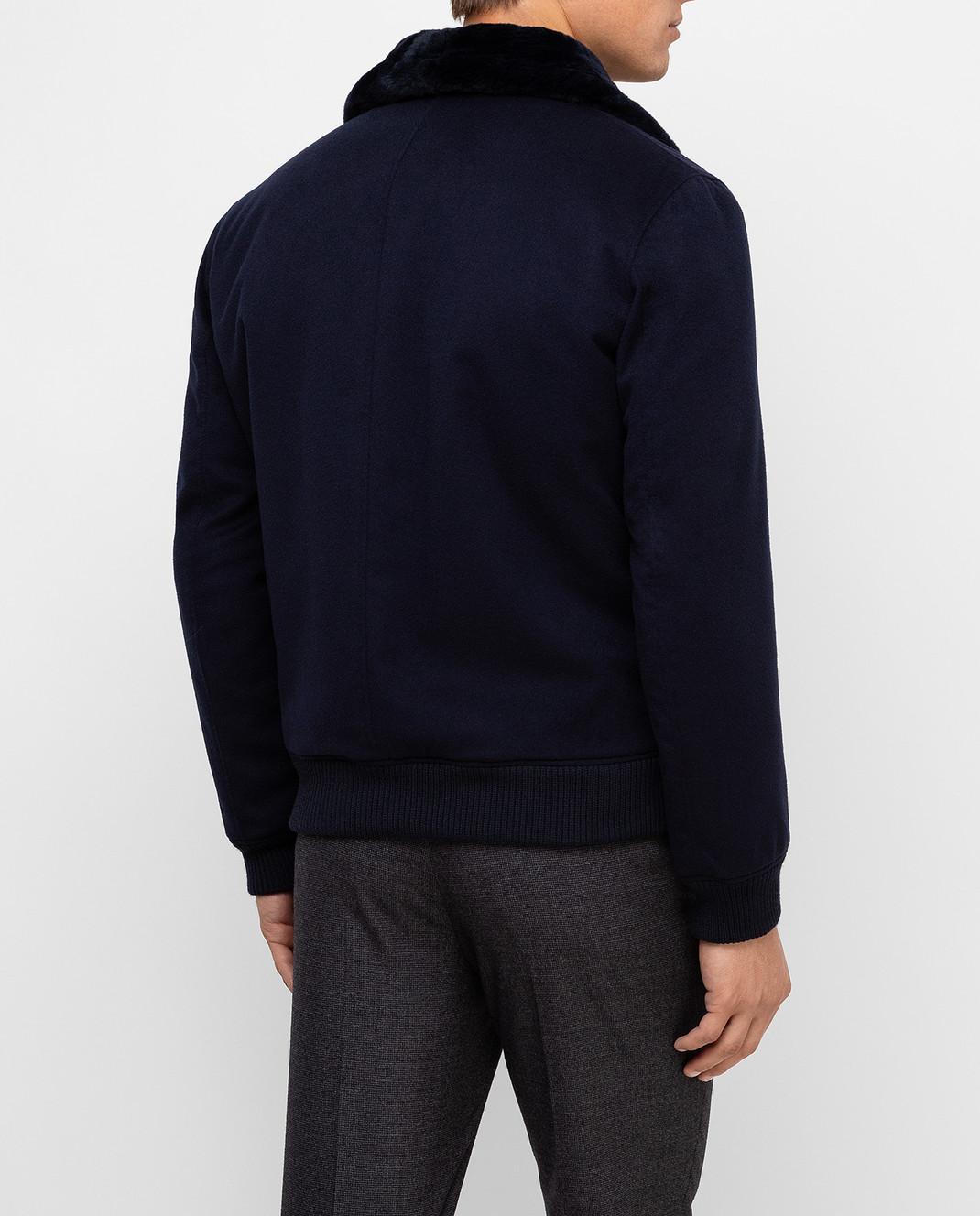 Seraphin Темно-синяя куртка из кашемира 22600H9FE9600 изображение 4