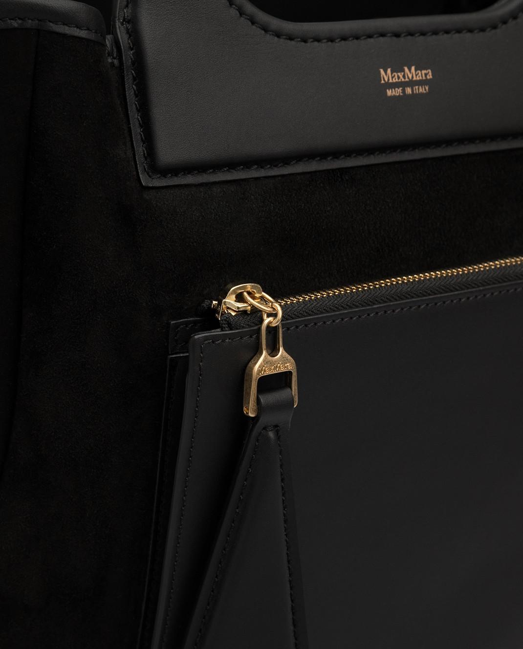 Max Mara Черная замшевая сумка GRACEXS изображение 5