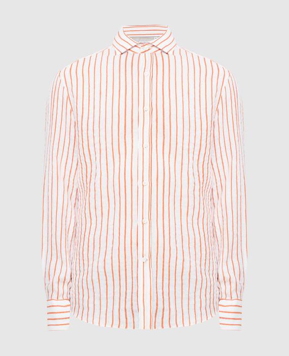 Белая рубашка из льна