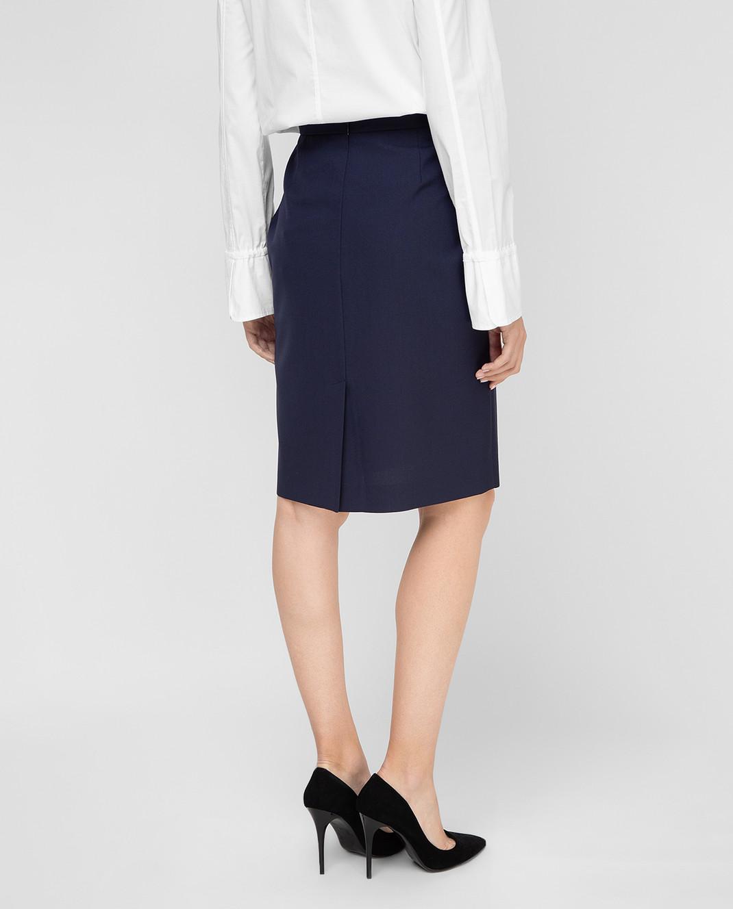 Balenciaga Темно-синяя юбка 373614 изображение 4