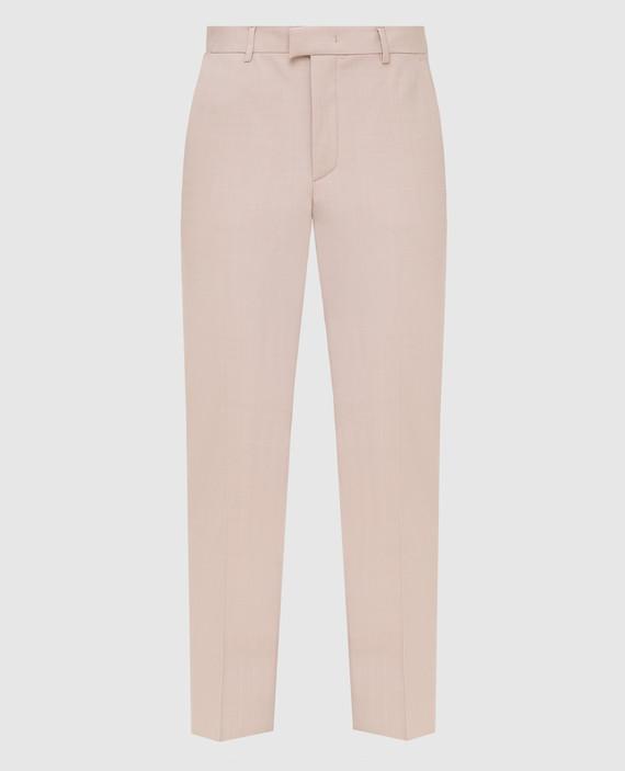 Пудровые брюки