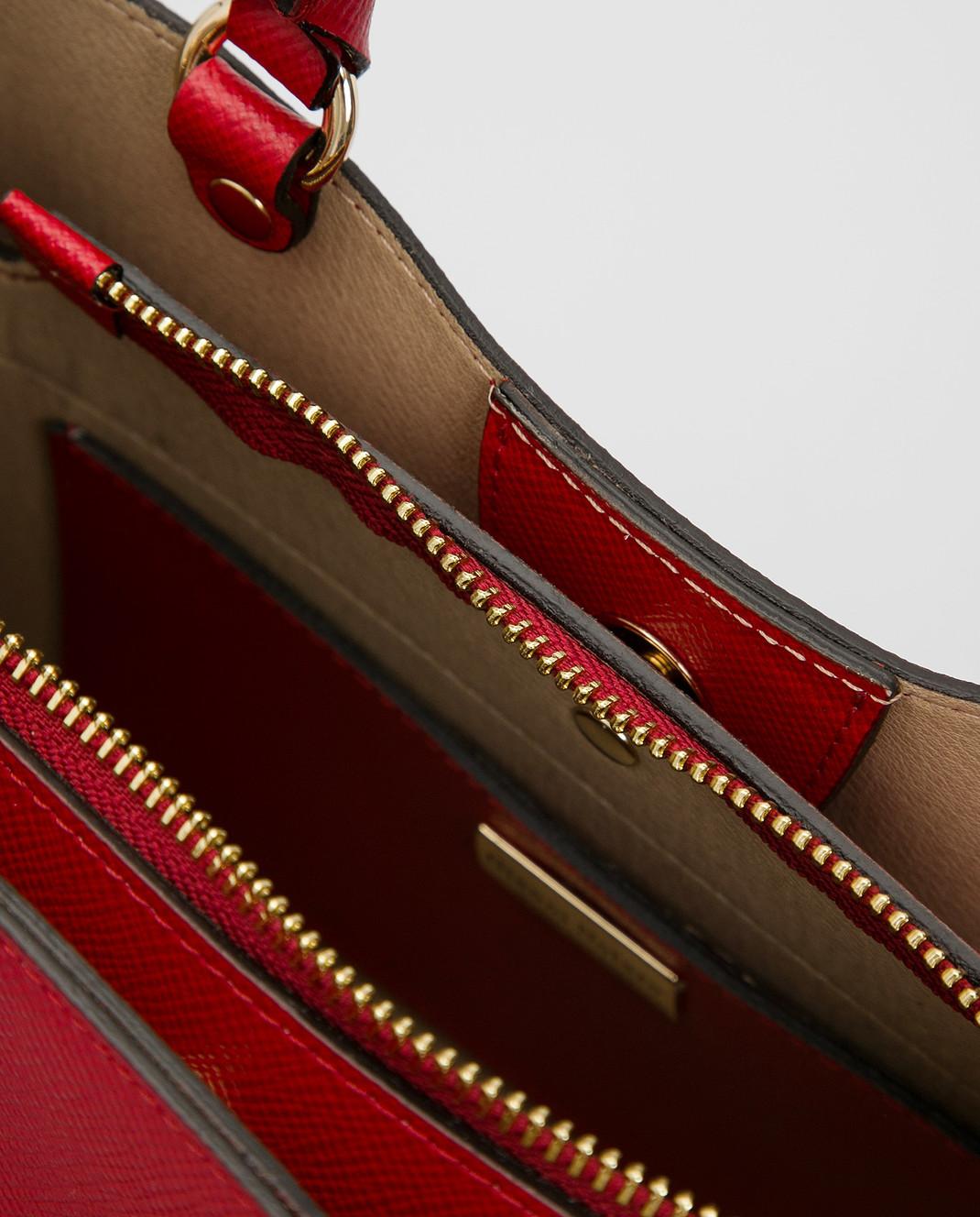 Gianni Notaro Красная кожаная сумка изображение 4