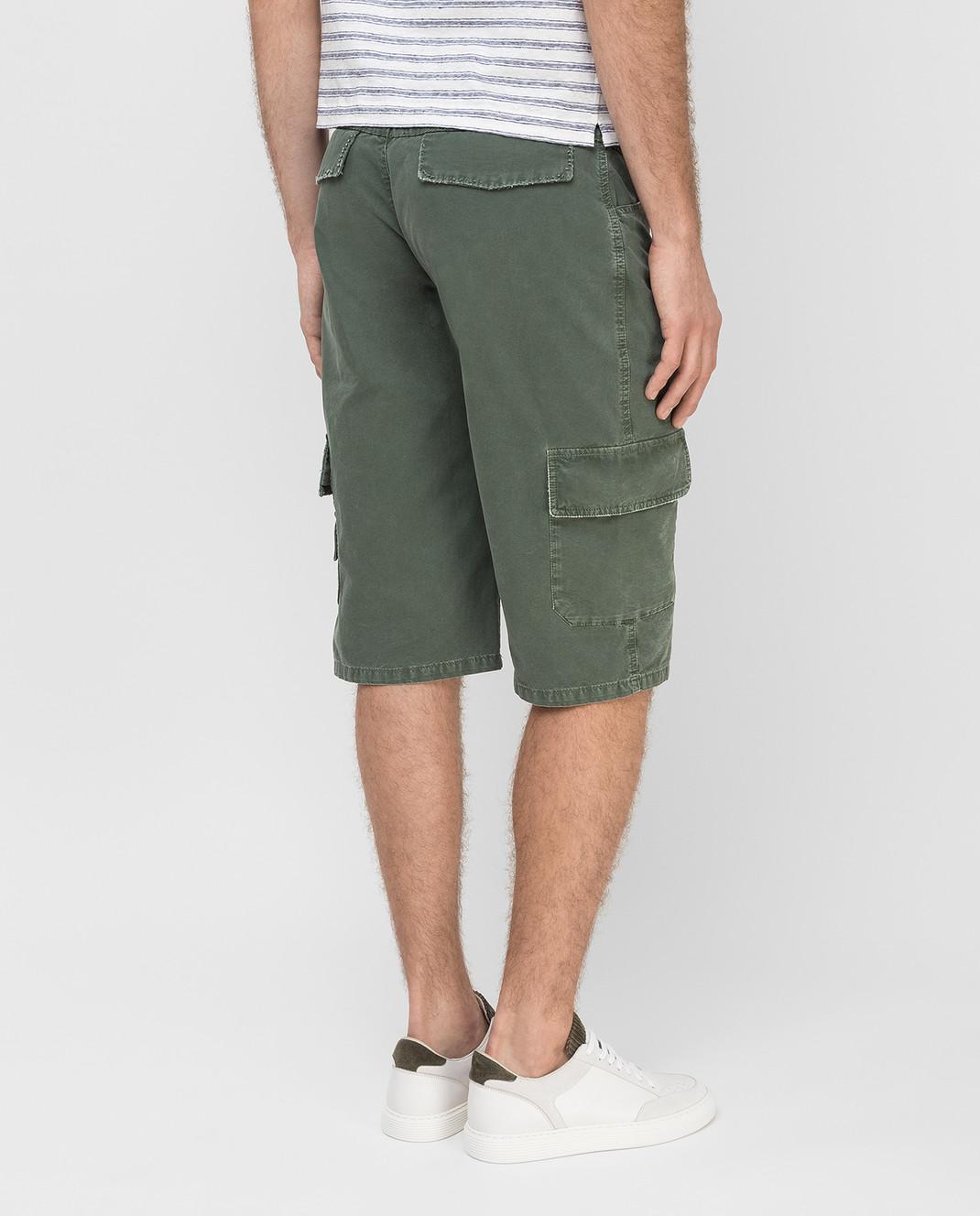 Ermanno Scervino Зеленые шорты U287P702AXC изображение 4