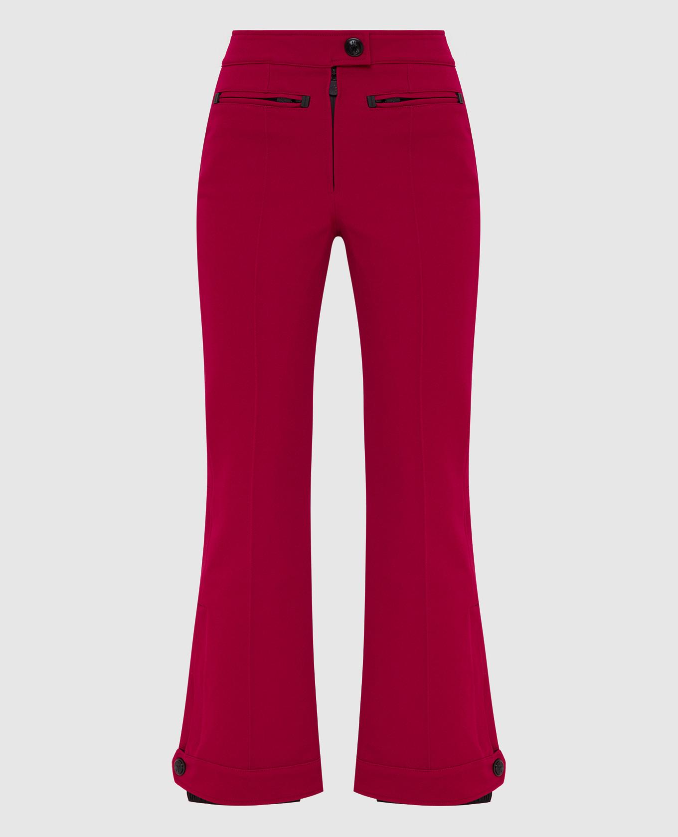 Малиновые лыжные брюки