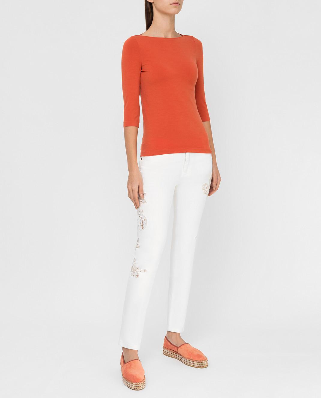 Ermanno Scervino Белые джинсы D287P700UFX изображение 2