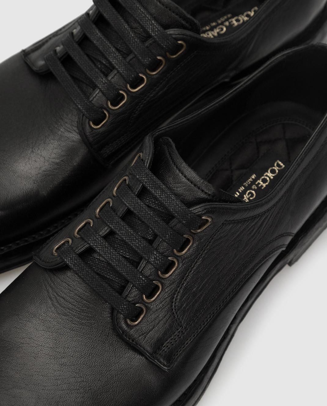Dolce&Gabbana Черные кожаные дерби изображение 5