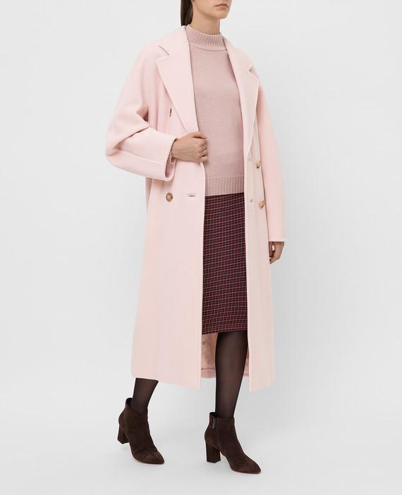 Светло-розовое пальто из шерсти и кашемира hover