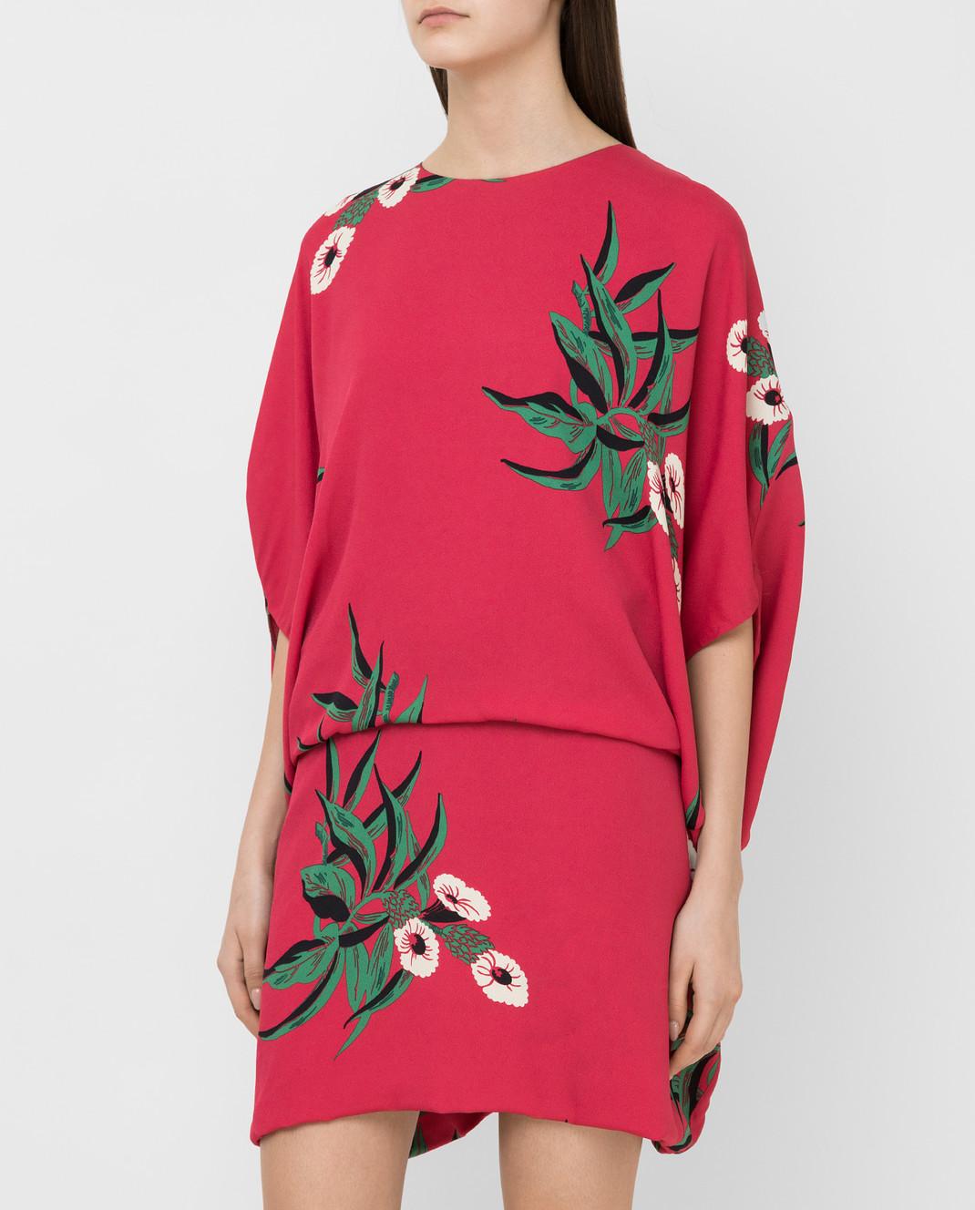 Marni Малиновое платье ABMAR17U00TV392 изображение 3