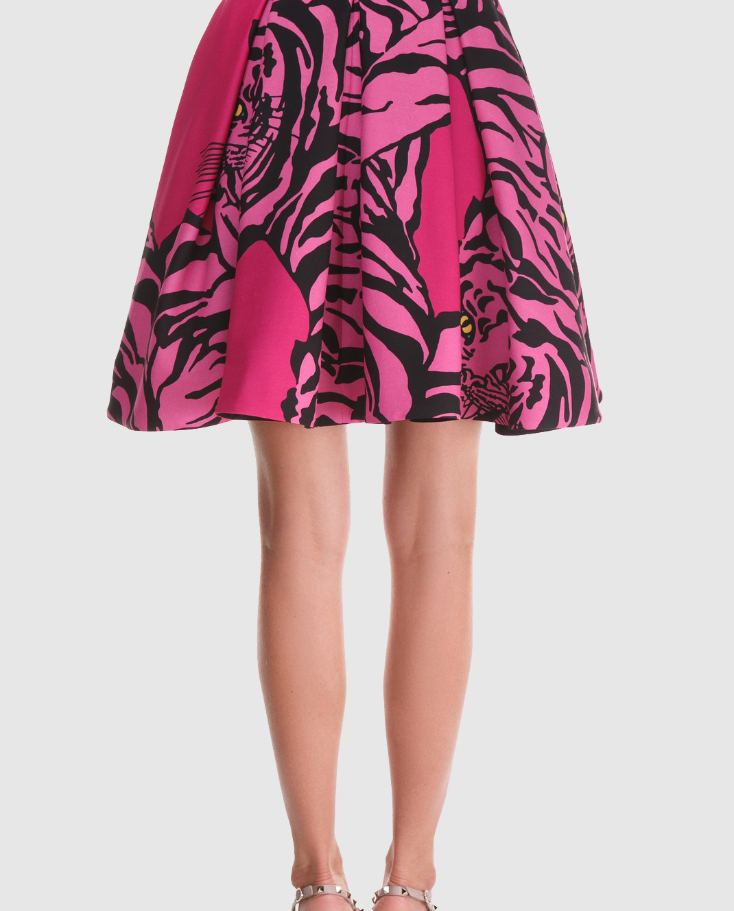 Valentino Розовая юбка из шерсти и шелка QB3RA3W546B изображение 4