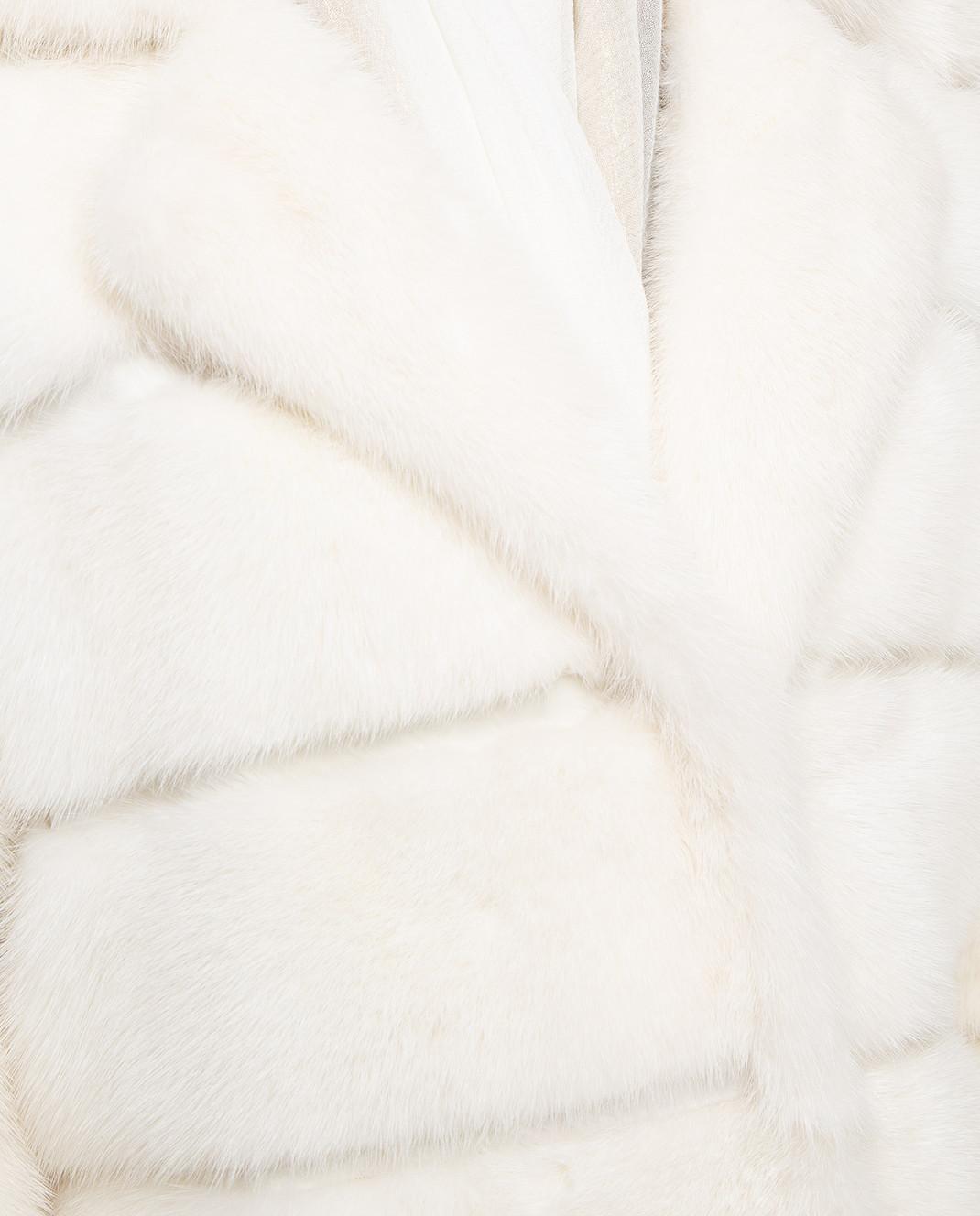 Annabella Белая шуба из норки 4MAGJ500 изображение 5