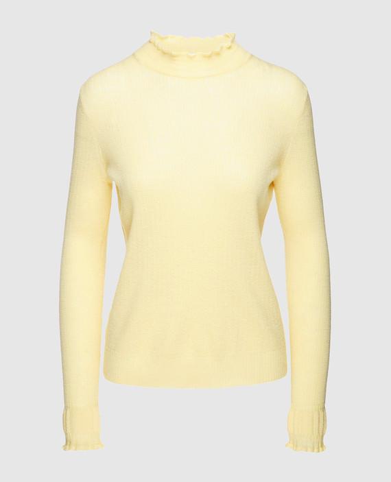 Желтый гольф из шерсти