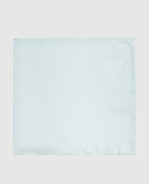 Голубой платок из шелка