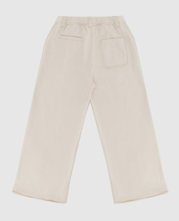 Детские светло-бежевые брюки hover