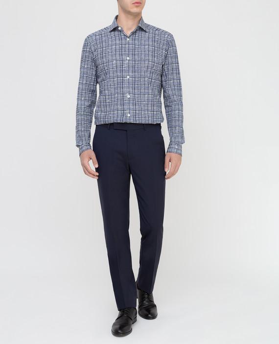 Темно-синие брюки из шерсти hover