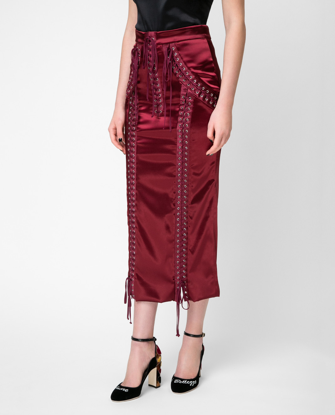 Dolce&Gabbana Красная юбка F4BCNTFURAD изображение 3