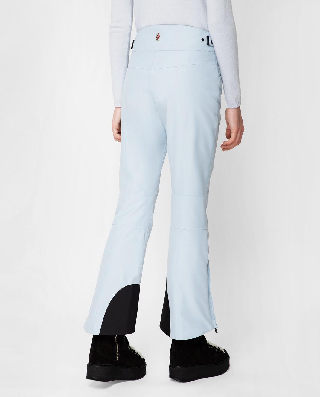 Moncler Grenoble Голубые лыжные брюки 16417 изображение 4