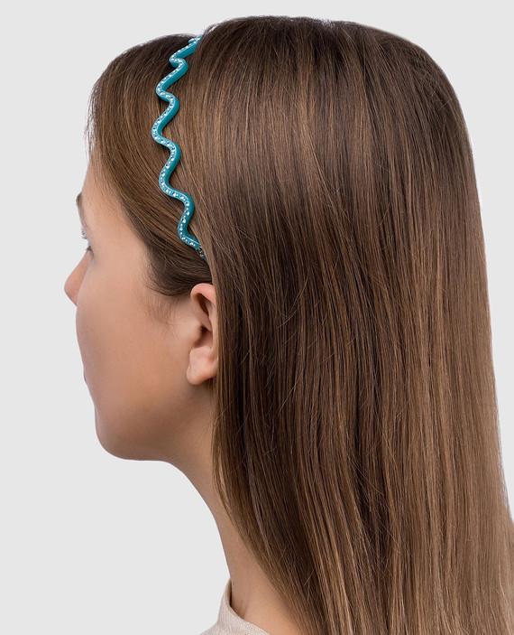 Голубой обруч для волос ILeDeRe hover