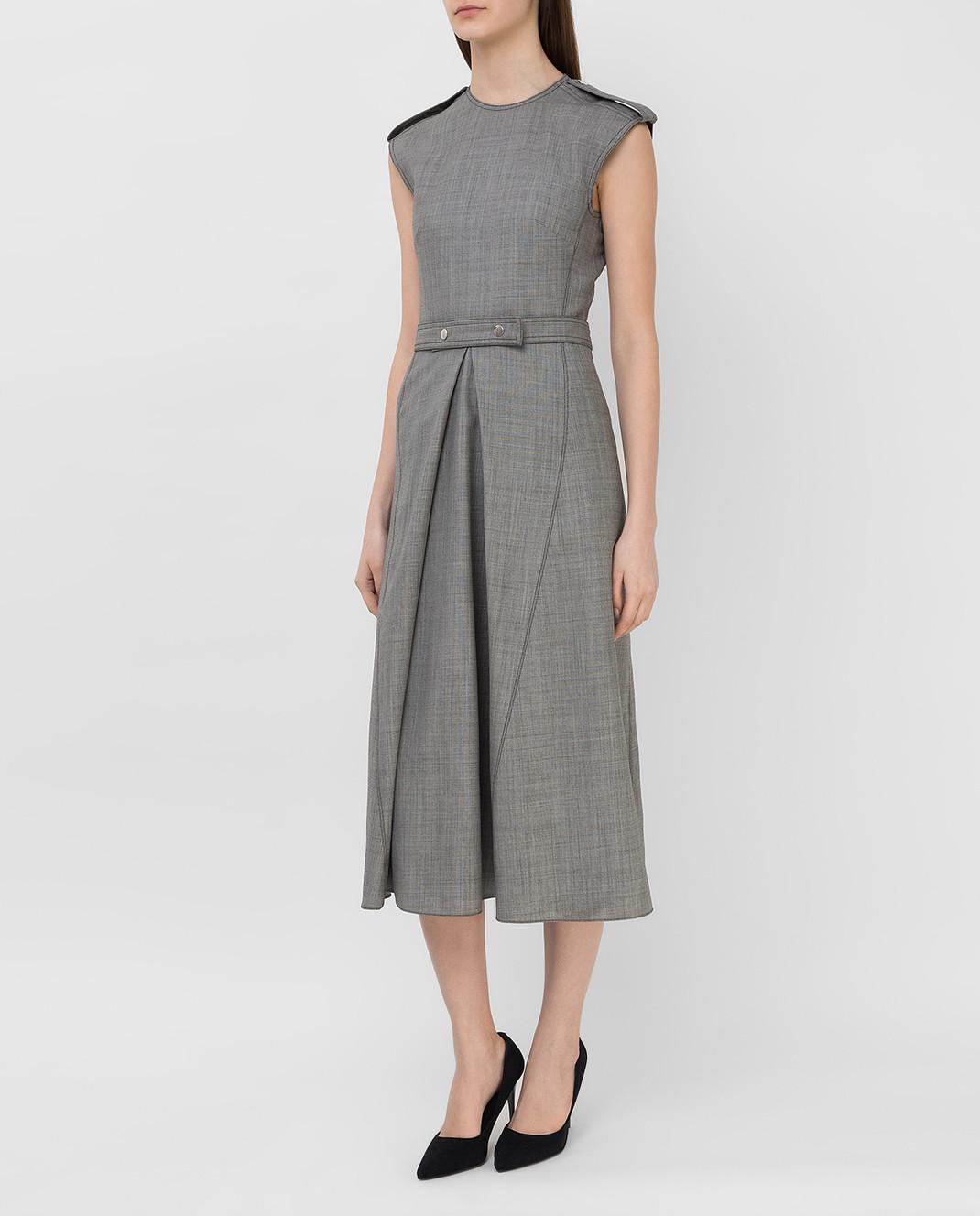 Victoria Beckham Серое платье из шерсти DRMID6602 изображение 3