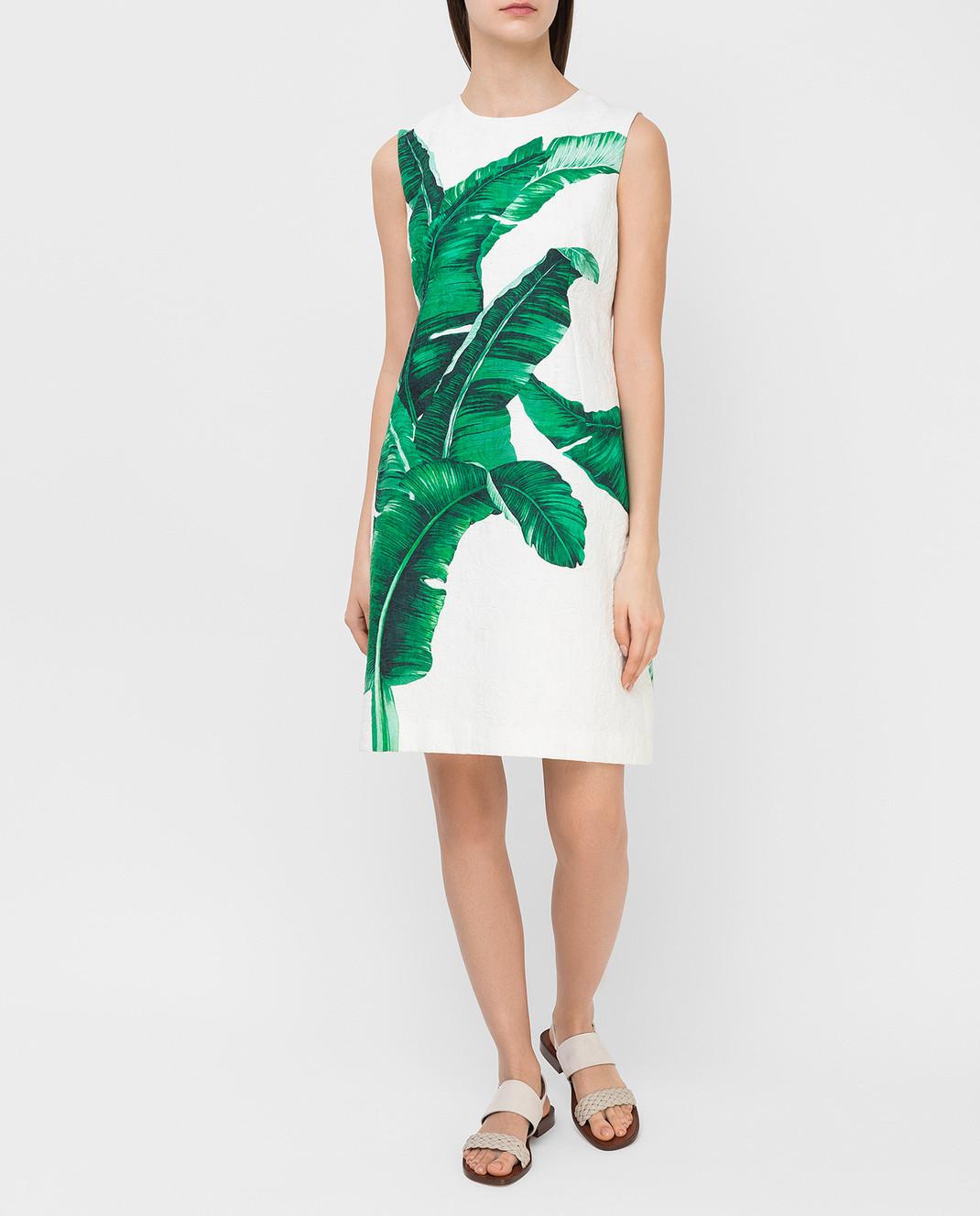 Dolce&Gabbana Белое платье F6XY4TFSMY7 изображение 2