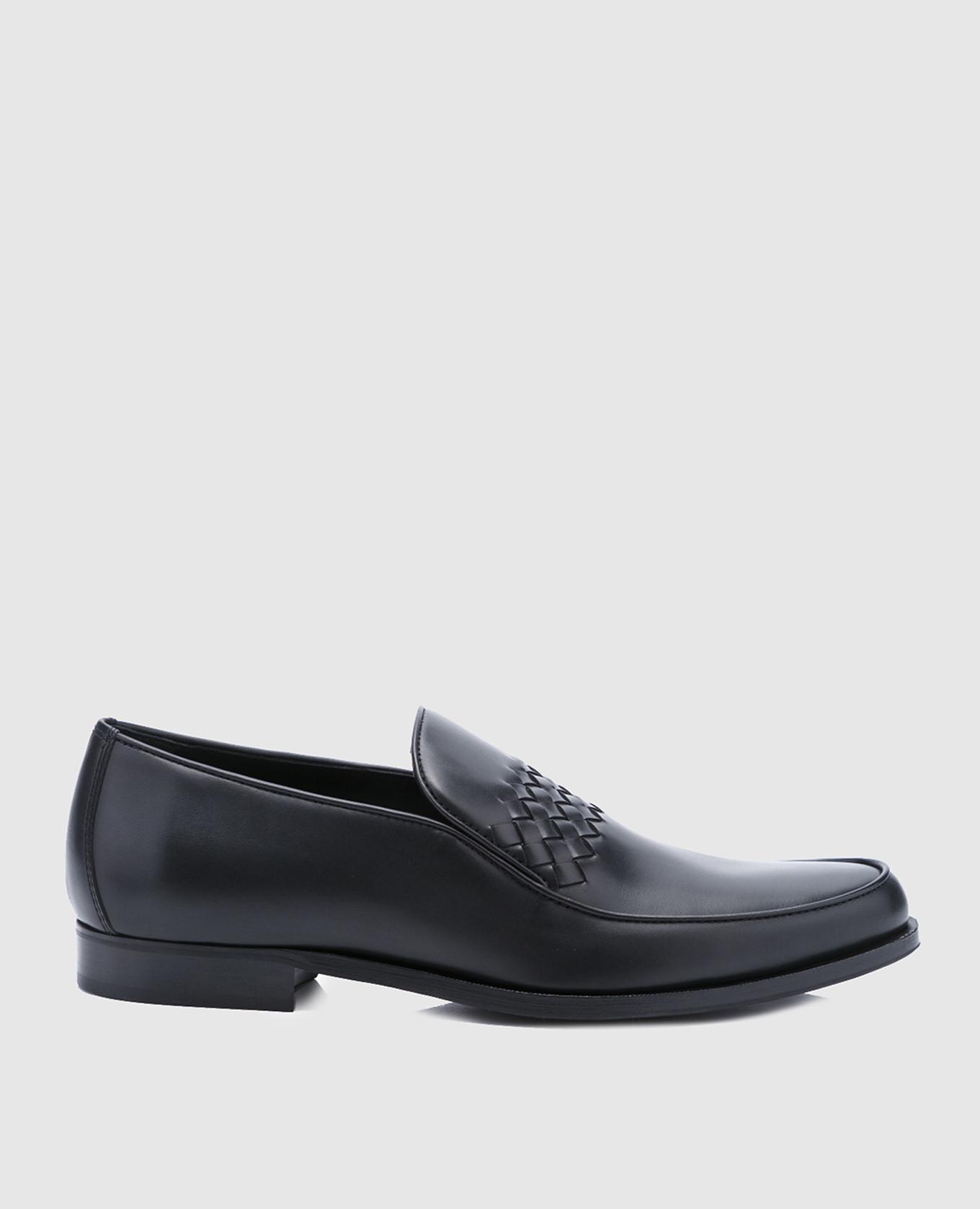 Черные кожаные лоферы