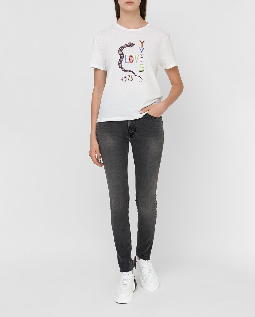 Saint Laurent Серые джинсы изображение 2