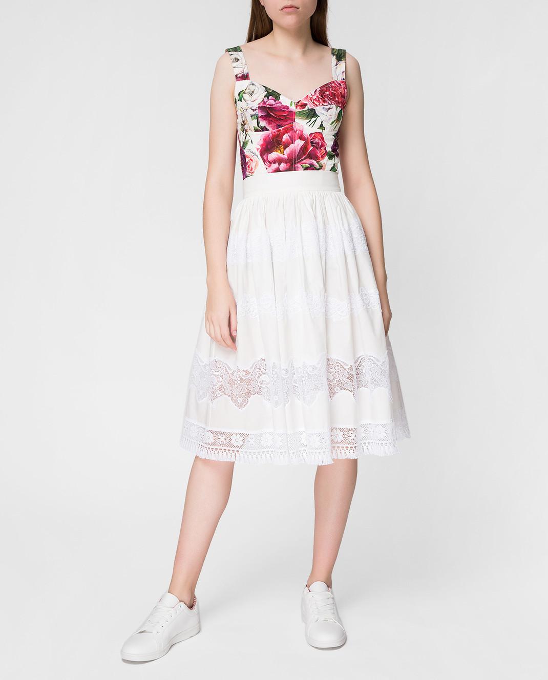 Dolce&Gabbana Белая юбка F4BC7TFU5L5 изображение 2