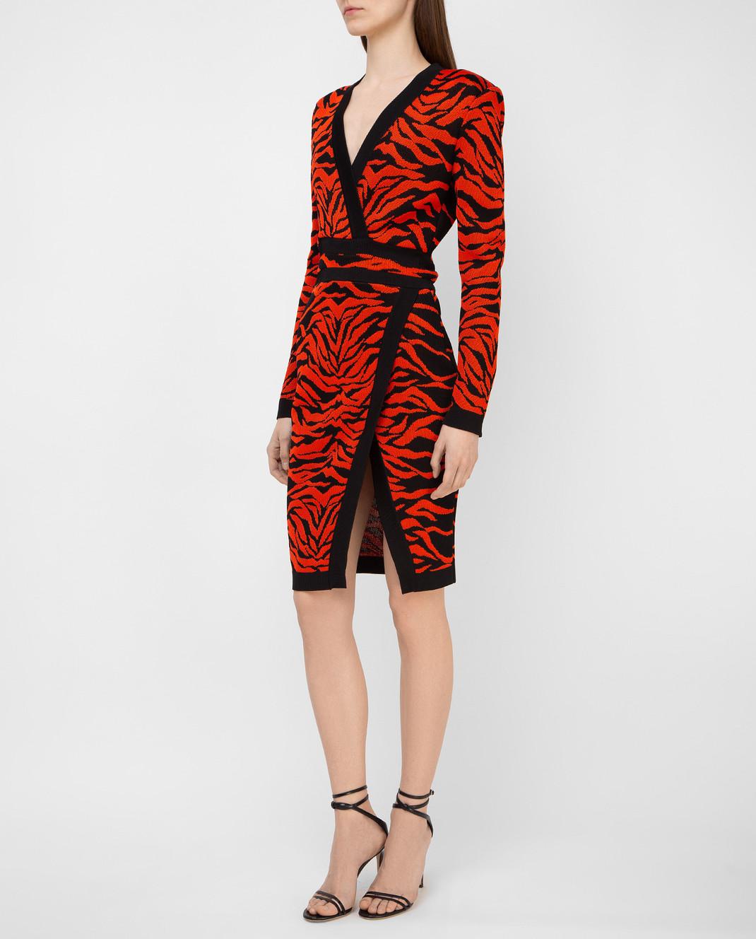 Balmain Оранжевое платье 6975482M изображение 3
