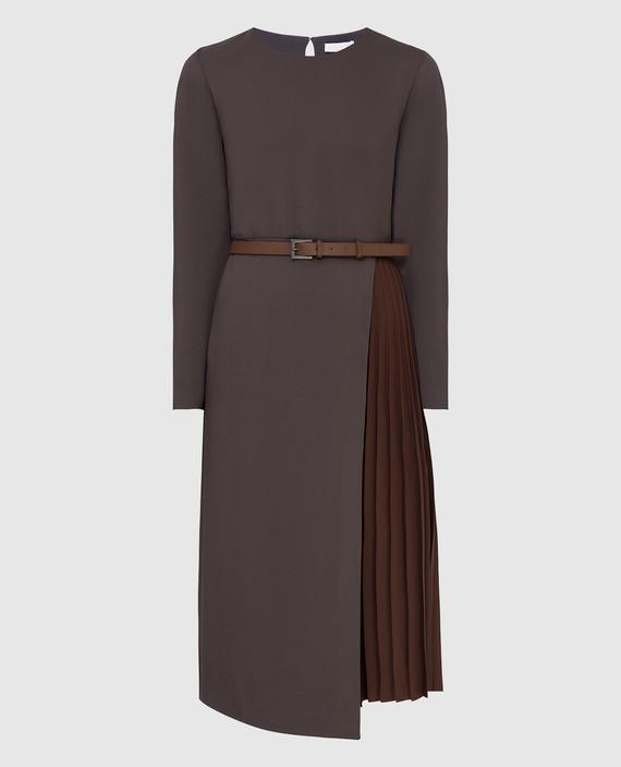Темно-фиолетовое платье