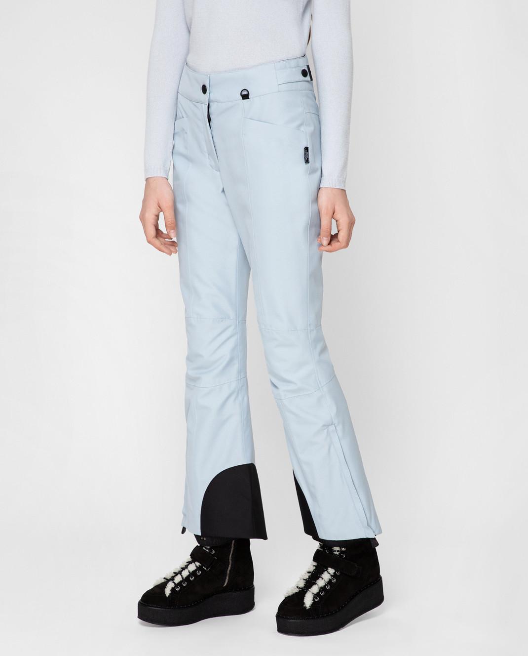 Moncler Grenoble Голубые лыжные брюки 16417 изображение 3