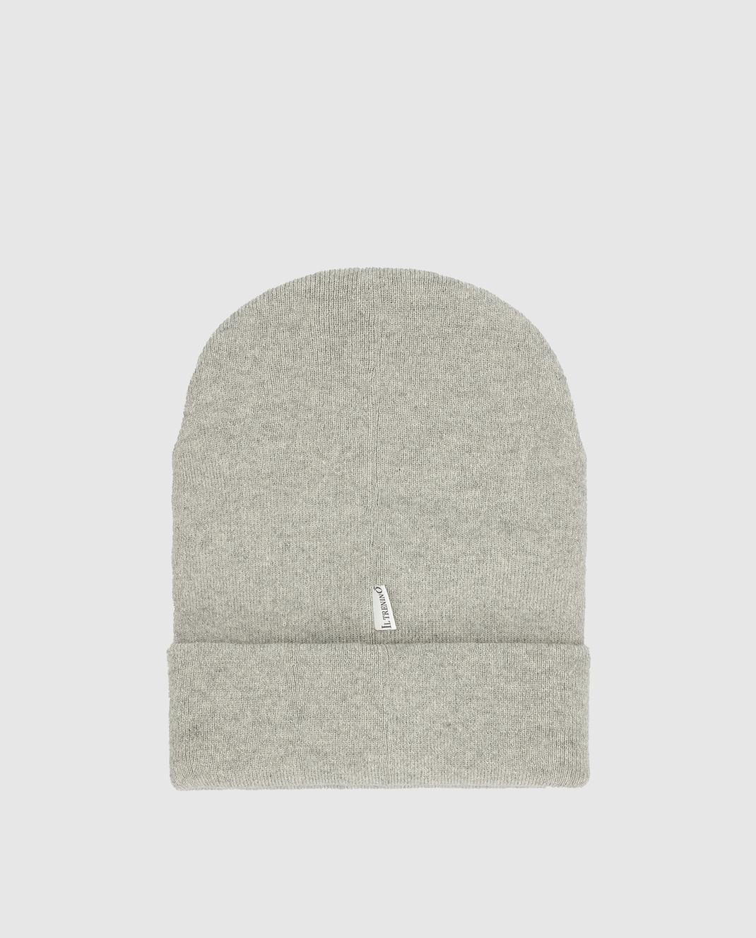 Il Trenino Детская серая шапка из шерсти и кашемира изображение 2