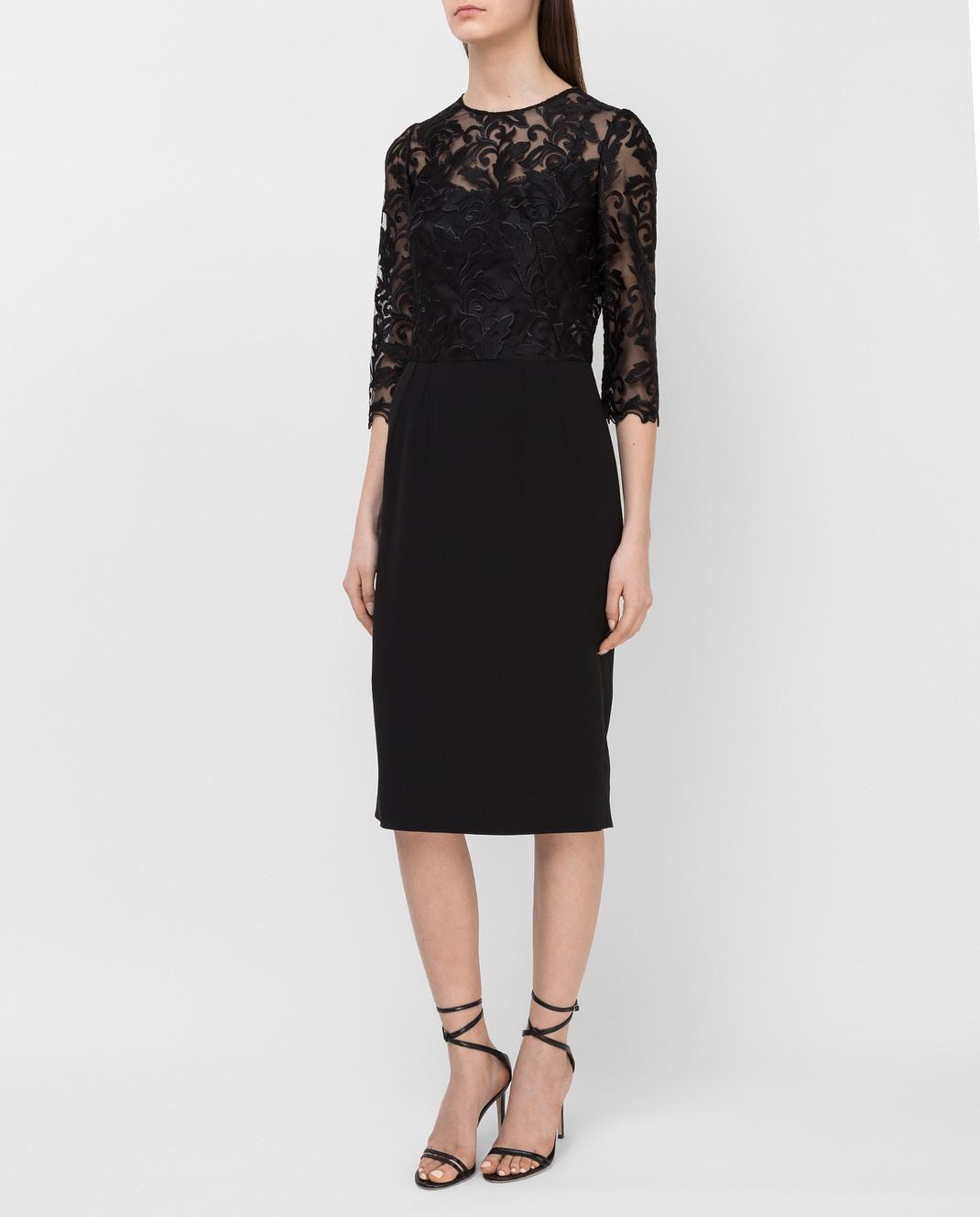 Dolce&Gabbana Черное платье F6VV0TFURDV изображение 3