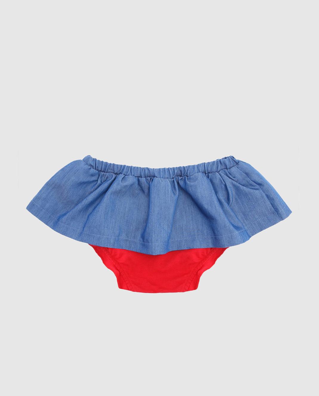 Philipp Plein Детская синяя юбка CRV0004 изображение 2