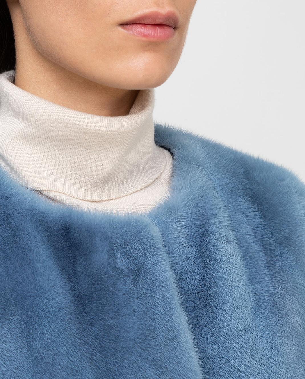 Yves Salomon Голубая шуба из норки 9WYM27390VMLX изображение 5