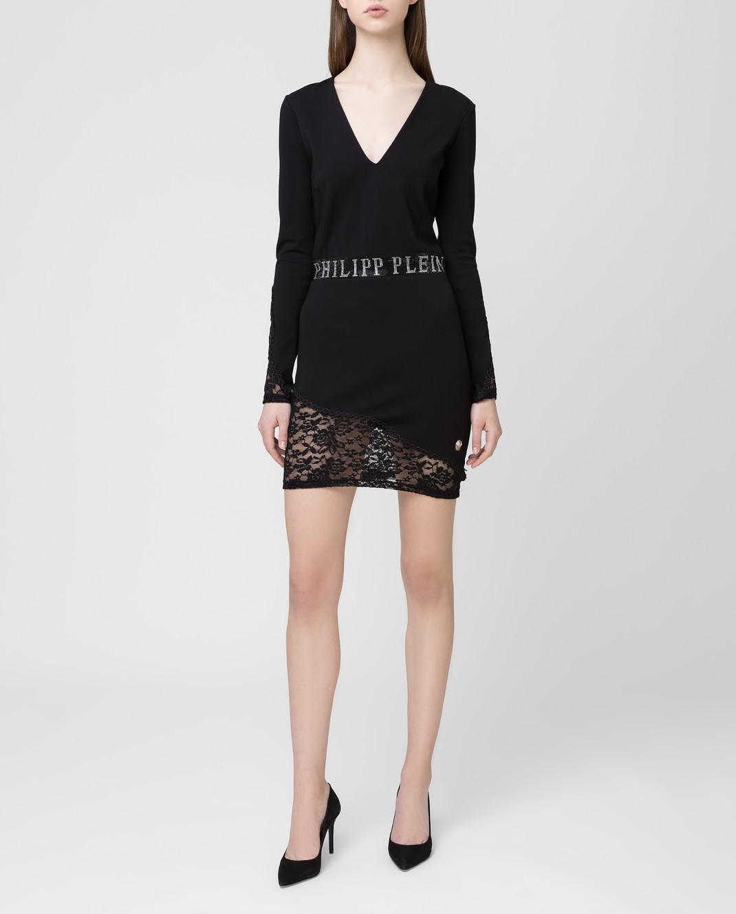 Philipp Plein Черное платье WRG0828 изображение 2