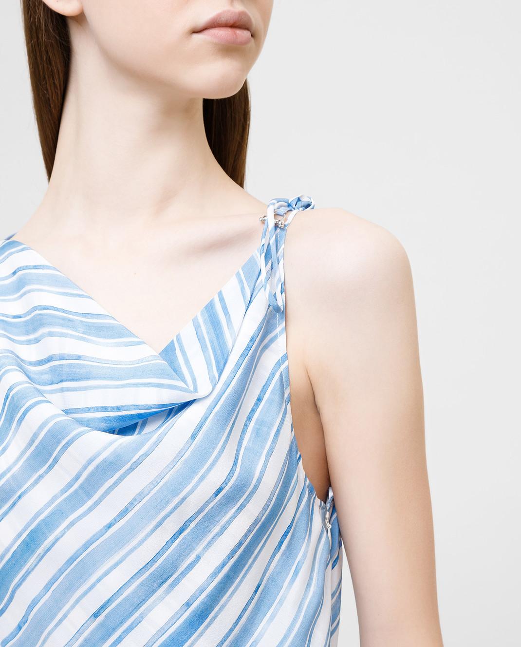 Altuzarra Голубое платье из шелка изображение 5