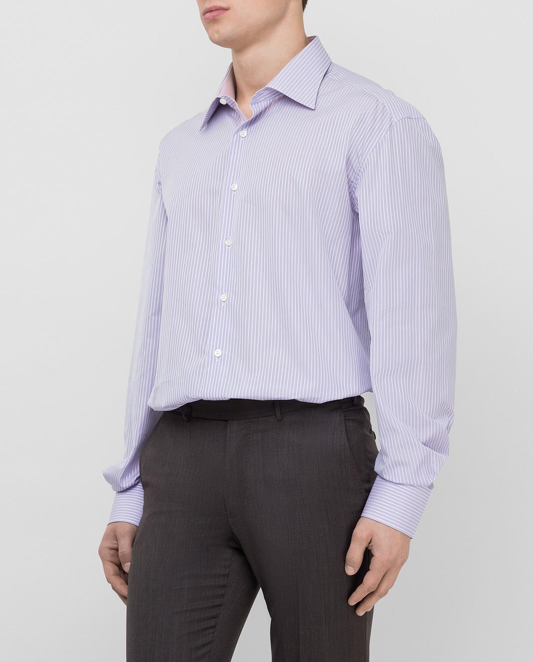 Stefano Ricci Сиреневая рубашка MC000872 изображение 3