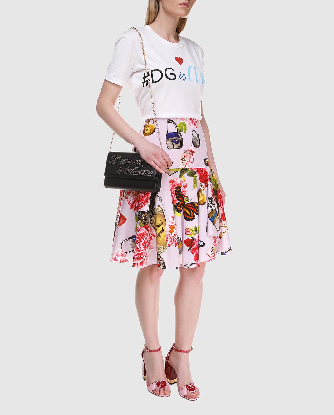 Dolce&Gabbana Юбка из шелка F4A8LTFSAUD изображение 2