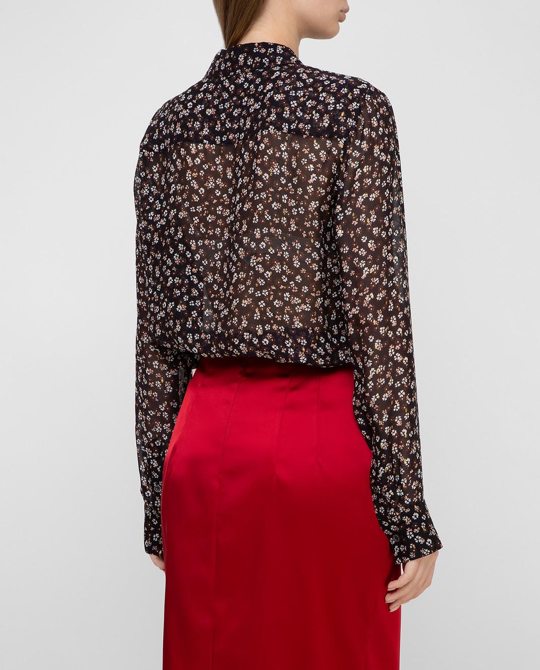 Altuzarra Черная блуза из шелка 418414848 изображение 4