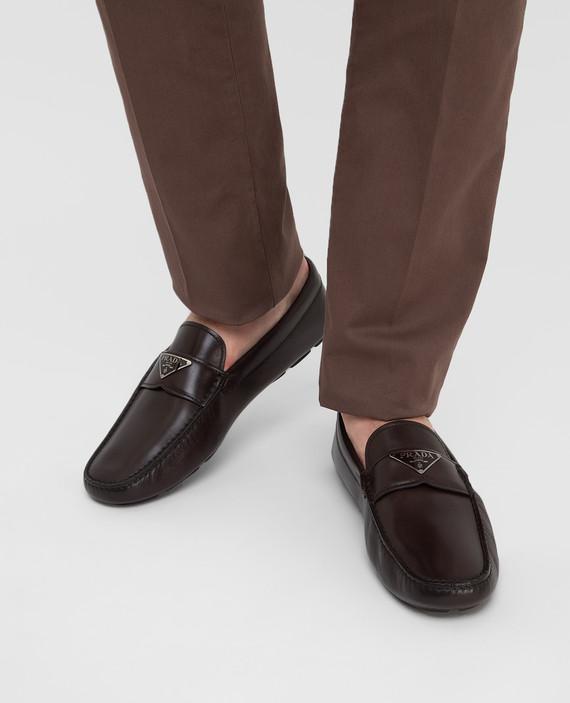 Темно-коричневые кожаные мокасины hover