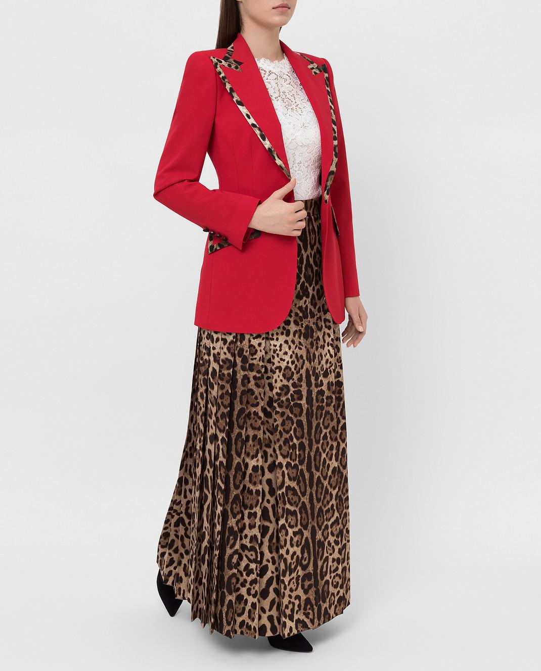 Dolce&Gabbana Красный жакет из шерсти изображение 2
