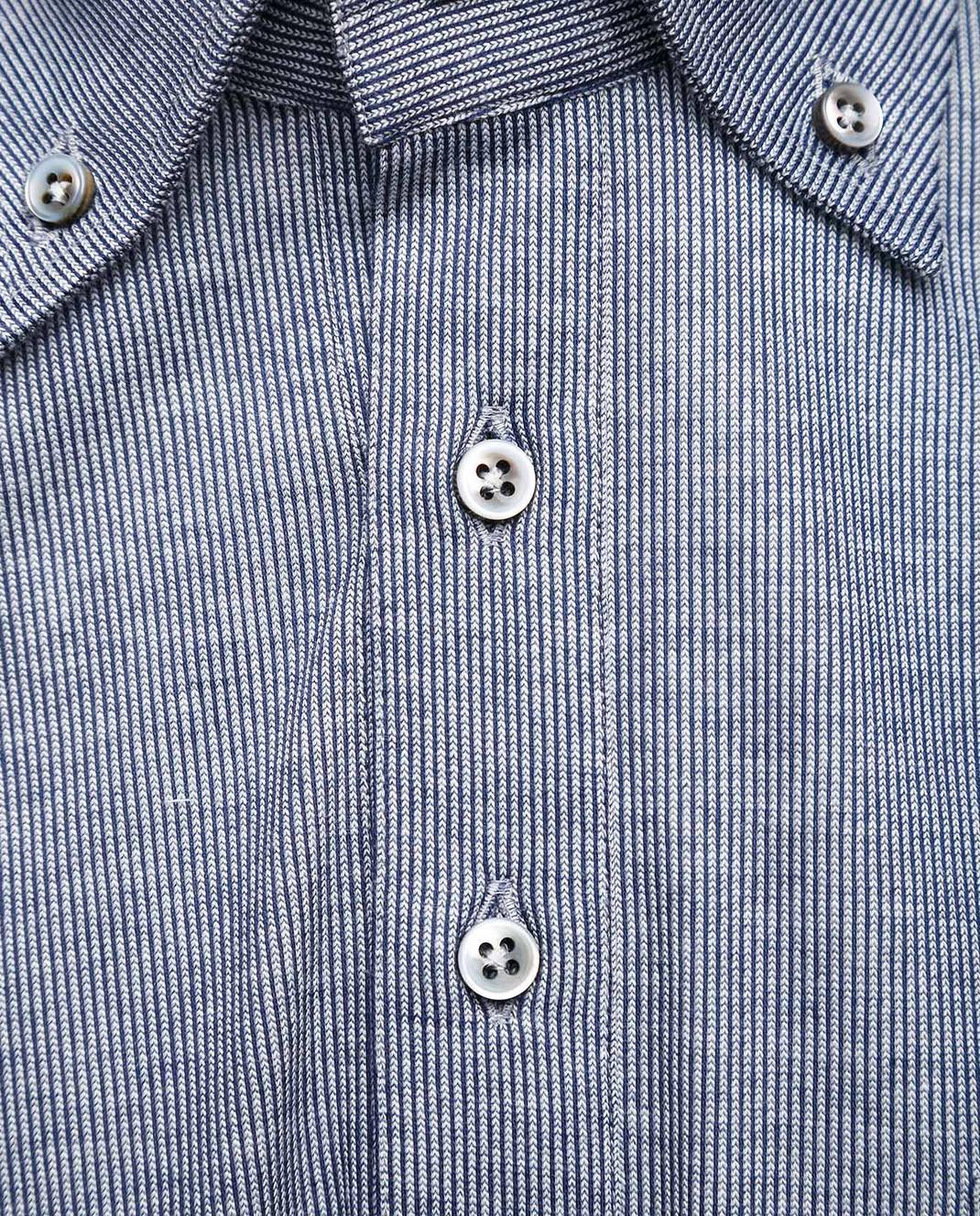 Marol Синяя рубашка с длинным рукавом 6726 изображение 4