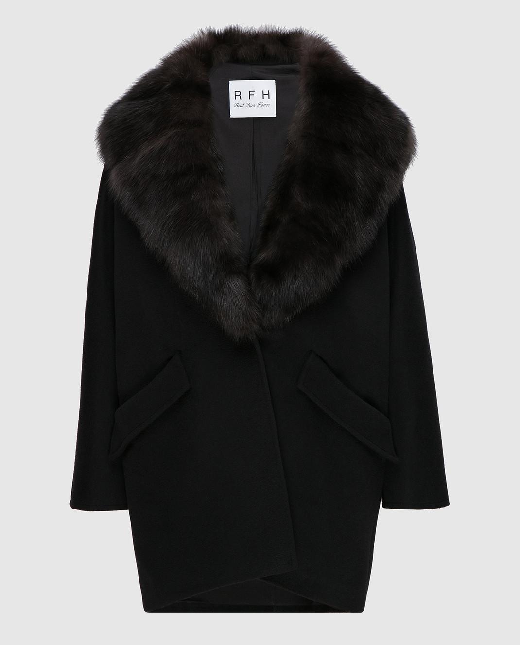 Real Furs House Пальто со съемным мехом QSR433