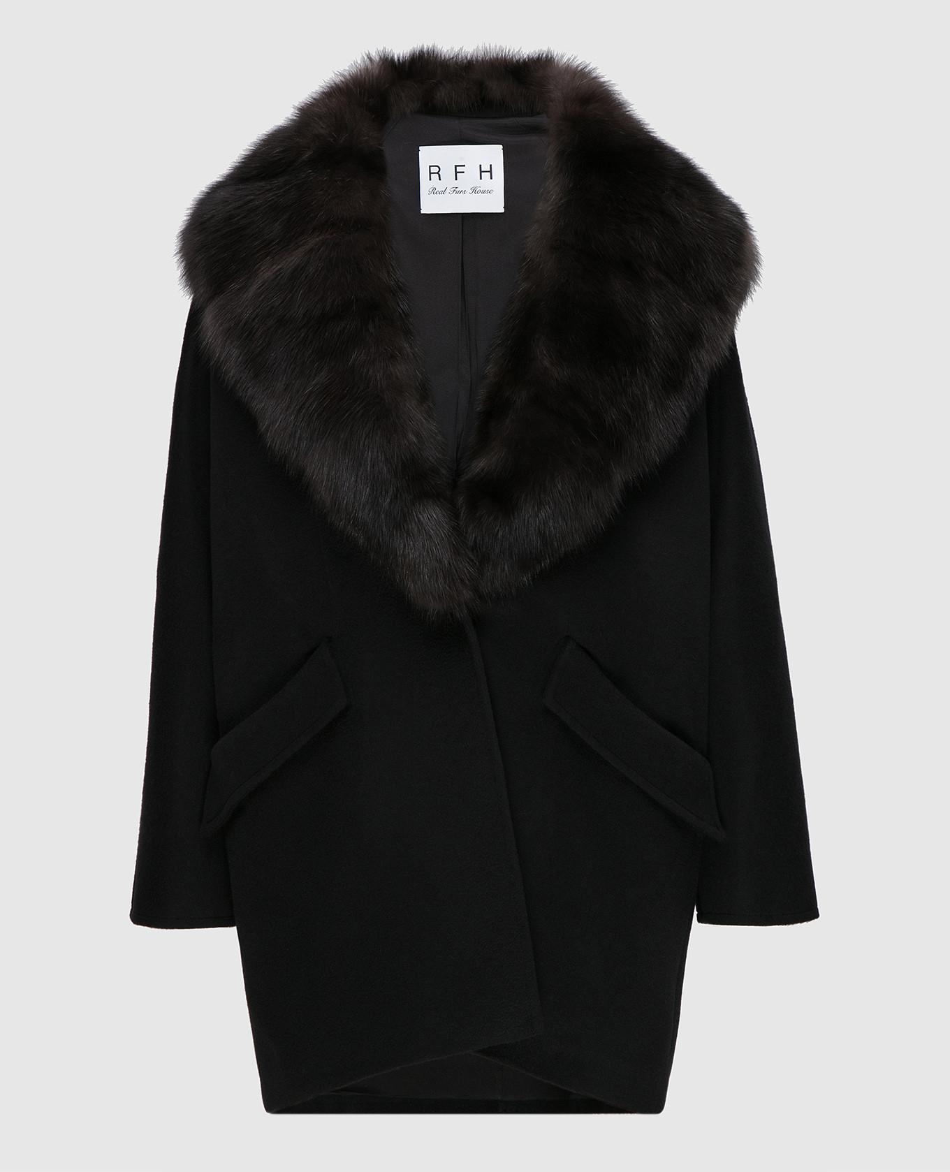 Пальто со съемным мехом